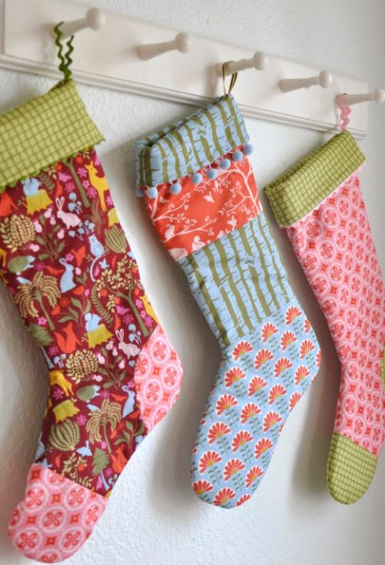 meadow holiday stockings tutorial