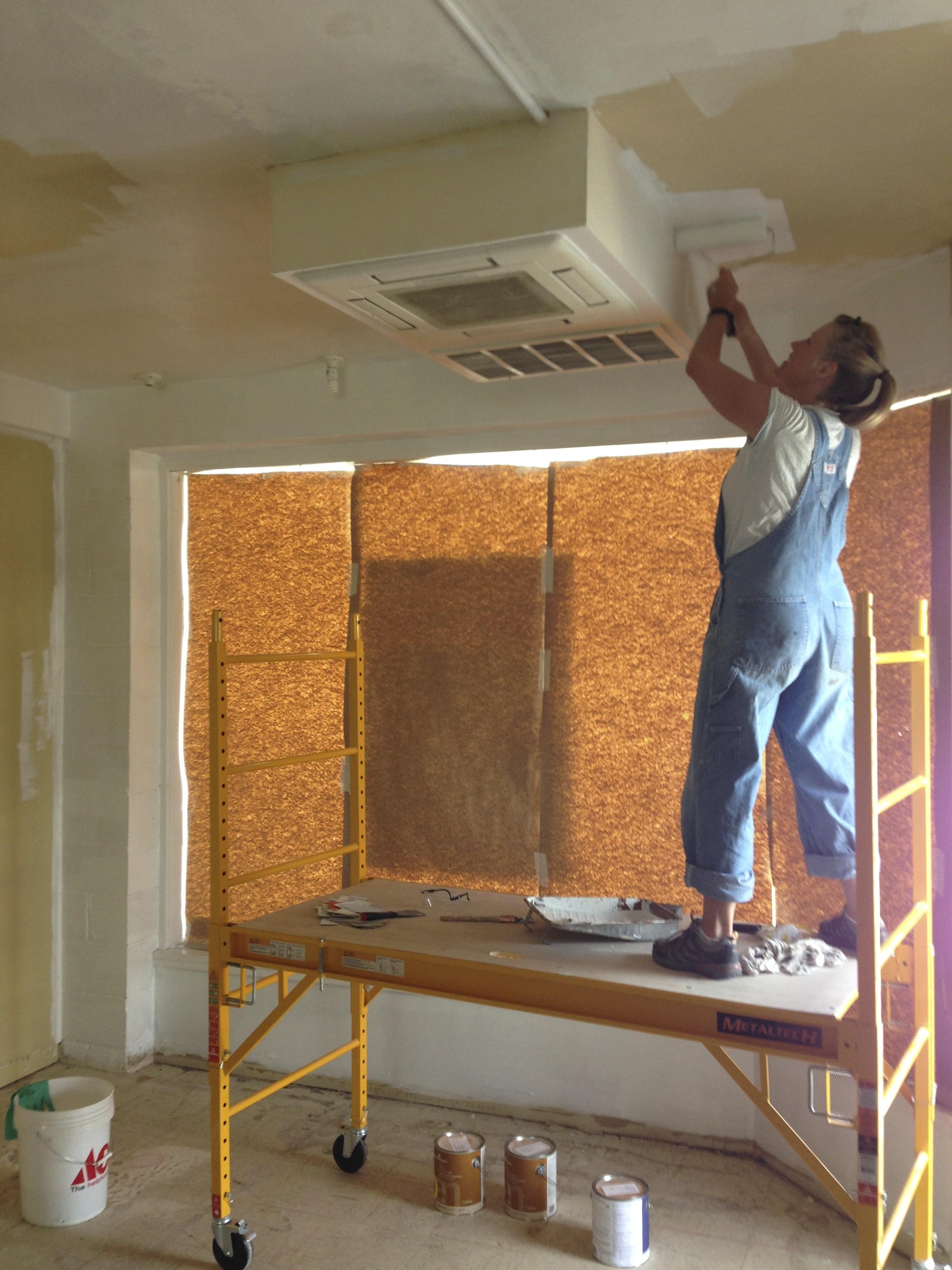 Monacan shop ceiling in progress