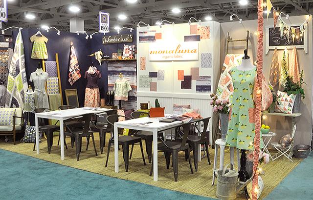 Monaluna Organic Fabric, Quilt Market 2016