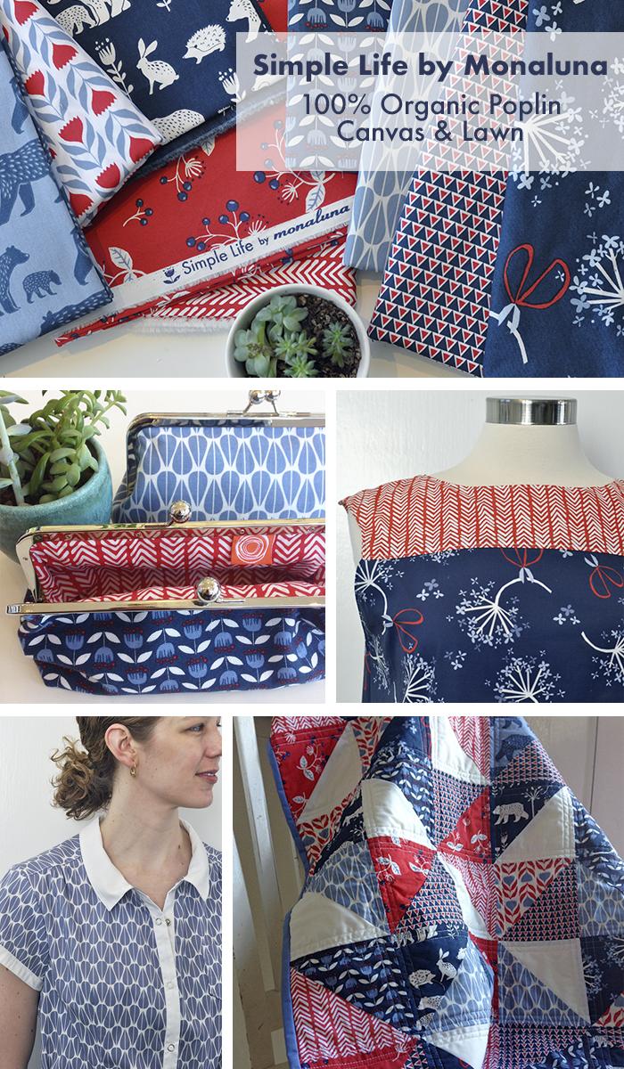 Simple Life Organic Fabric by Monaluna