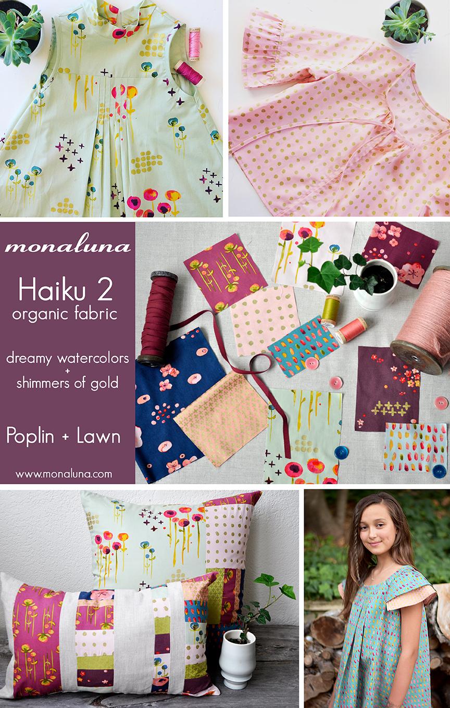 Haiku Organic Fabric by Monaluna