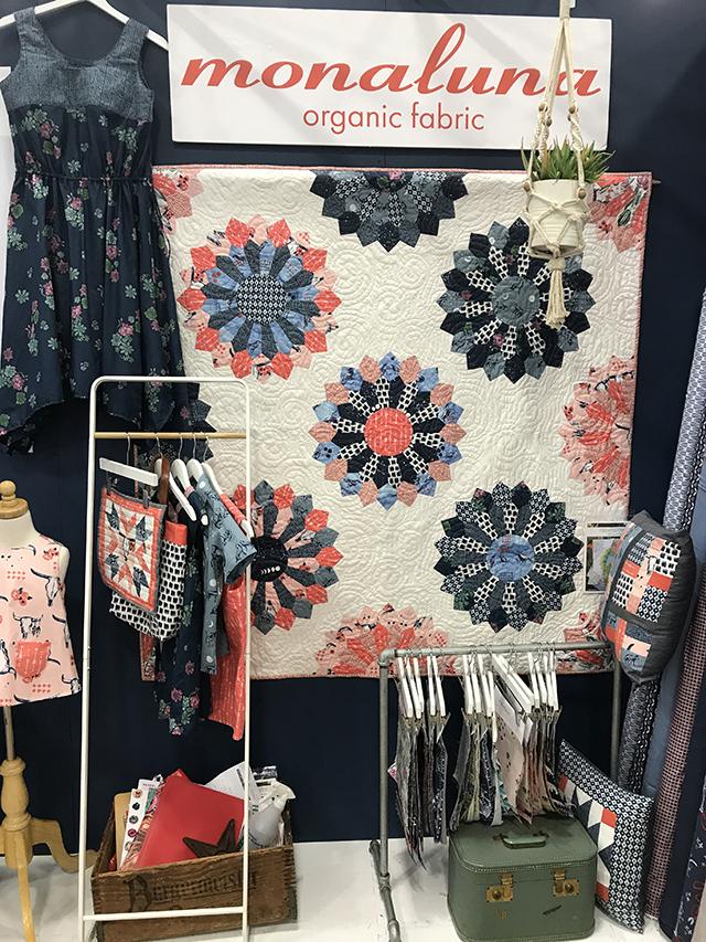 Monaluna Quilt Market Booth - Spring Quilt Market 2018