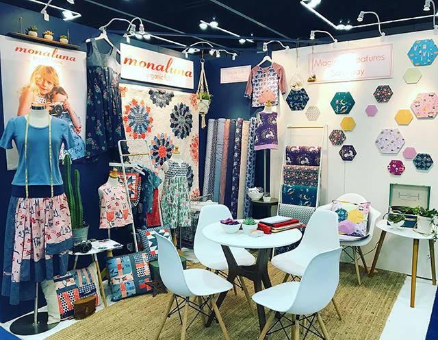 Monaluna Quilt Market Booth - Portland Quilt Market 2018